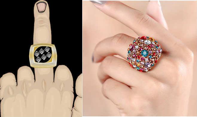 llevar anillo en el dedo del corazón