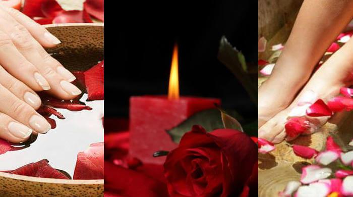 baño de agua de rosas para atraer amor