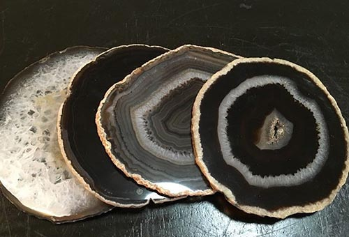 agata negra piedra