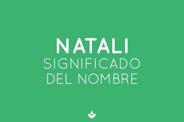 significado del nombre Natali