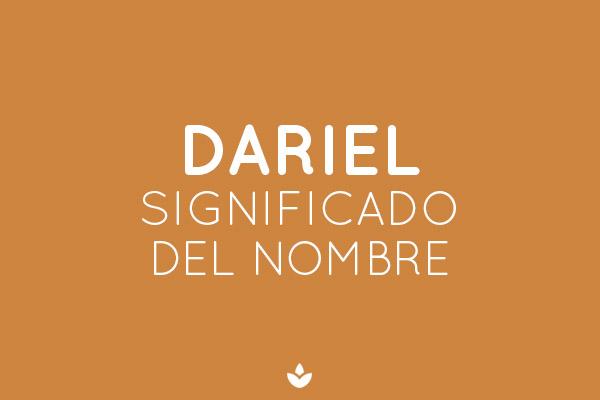 significado del nombre dariel