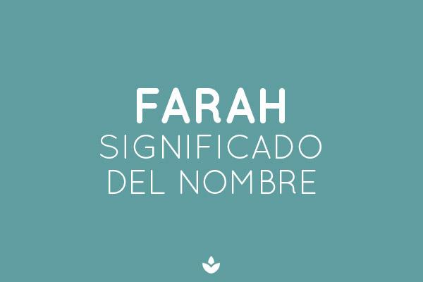 significado del nombre farah