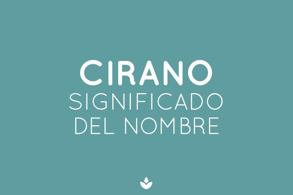 NOMBRE CIRANO