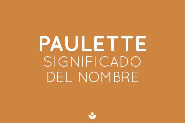 SIGNIFICADO DE PAULETE