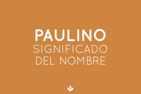 SIGNIFICADO DE PAULINO